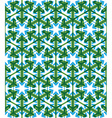 Geometric green abstract seamless pattern with vector image vector image
