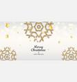 golden snowflakes shimmer on light background vector image
