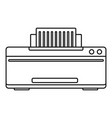 great printer icon outline style vector image