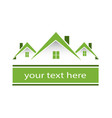 green house home environment friendly logo vector image vector image