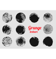 Grunge circle element set Stamp stain texture vector image vector image
