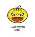 halloween emoji line icon sign vector image