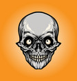 head angry skull vector image vector image