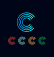 initial c abstract logo template and inspiration vector image vector image