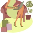 internet shopping vector image vector image