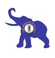 kentucky republican elephant flag vector image vector image