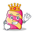 king marshmallow character cartoon style vector image