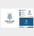 law firm attorney pillar crown line art logo