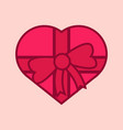 love gift heart graphic vector image