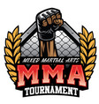 mma badge design vector image vector image