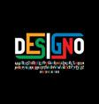 modern style font design vector image