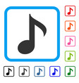 musical note framed icon vector image