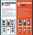 parking lot flyers in minimalist style vector image vector image