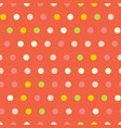 polka dots seamless pattern on red vector image vector image