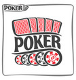 poster for poker gamble game vector image vector image