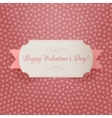 Realistic Valentines Day greeting paper Label vector image