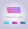 rectangular logo template for your business and vector image