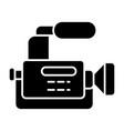 reportage camera solid icon camcorder vector image vector image