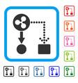 ripple cashflow framed icon vector image vector image