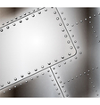 riveted metal background vector image