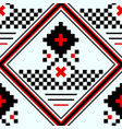 seamless part of embroidered good like handmade vector image vector image