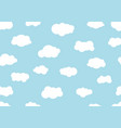 seamless pattern hand drawn cloudy different vector image