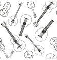Seamless pattern with musical vector image vector image