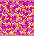 seamless repeating hearts background vector image vector image