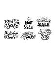 Seasonal sale monochrome stickers set