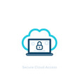 secure cloud access icon vector image vector image
