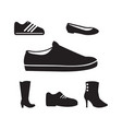 set black man and women shoes vector image