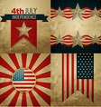 set of american independence day background vector image vector image