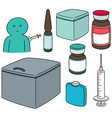 set of vaccine vector image vector image