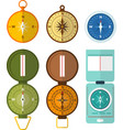 set of various compass navigation icon with the vector image