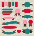 Set retro ribbons vintage labels emblems vector image vector image