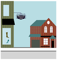 Shopfront Background vector image vector image