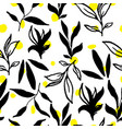 Simple stylish seamless hand-made pattern vector image