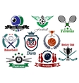 Sporting emblems and badges vector image vector image