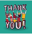 Thank you sign with group happy people vector image vector image