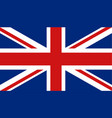 united kingdom flag icon in flat style great vector image