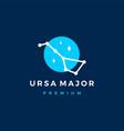 ursa major star constellation north logo icon vector image