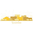 waterloo iowa city skyline golden silhouette vector image vector image