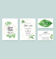 wedding invitation save the date thank you rsvp vector image vector image