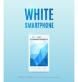 White smartphone poster design vector image vector image