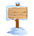 winter labels theme image 4 vector image vector image
