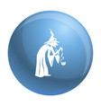 witch icon simple style vector image