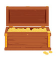 wooden pirate chest vector image vector image
