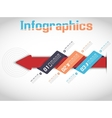 MODERN ORIGAMI BUSINESS ARROW STYLE OPTIONS BANNER vector image