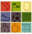 Sports background with soccer football symbols vector image