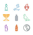 9 religion icons vector image vector image